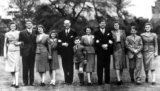 A model of Irish Catholic achievement in America:  family portrait of the prosperous Kennedys. taken in 1938